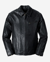 Eddie Bauer Men's Leather Journeyman Bomber Jacket