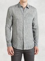 John Varvatos Artisan Linen Rolled Sleeve Shirt