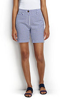 """Lands' End Women's Petite Mid Rise 7"""" Chino Shorts-White"""