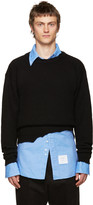 Raf Simons Black Wool Destroyed Sweater