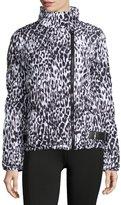 Marc NY Performance Leopard-Print Moto Puffer Jacket