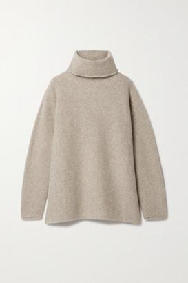 LAUREN MANOOGIAN + Net Sustain Oversized Alpaca Turtleneck Sweater - Beige