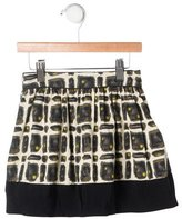 Bonpoint Girls' Abstract Print Flare Skirt