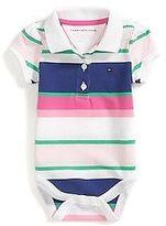 Tommy Hilfiger Little Girl's Fresh Stripe Polo Bodysuit