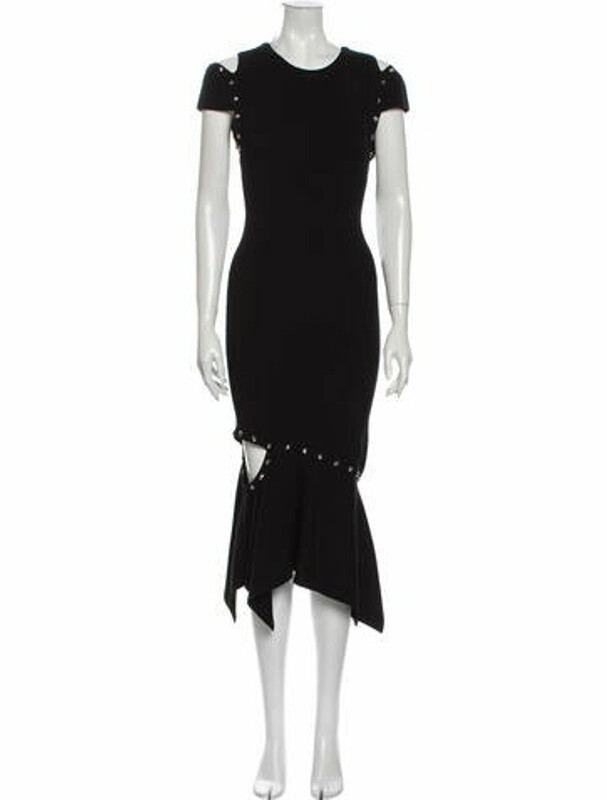 Thumbnail for your product : Alice + Olivia Crew Neck Long Dress Black