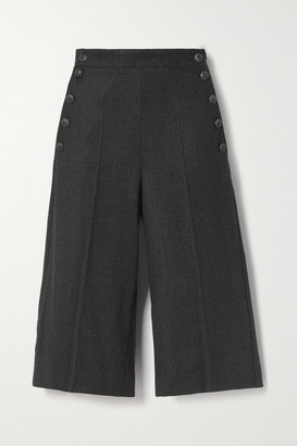 Max Mara Wool-blend Shorts - Dark gray