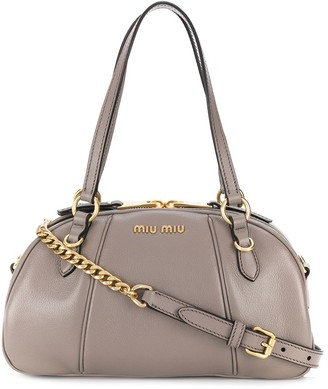 Miu Miu Top Handle Bowling Bag