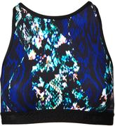 Matthew Williamson Snake Print High Neck Sports Bra