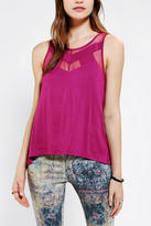 Sparkle & Fade Inset Mesh Tank Top