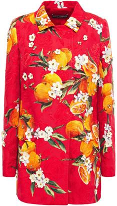 Dolce & Gabbana Embellished Printed Cotton-blend Jacquard Jacket