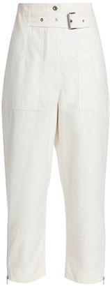 3.1 Phillip Lim Belted Ankle Cropped Cargo Pants