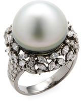 Amrapali Diamond and Pearl Ring