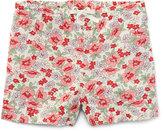 Ralph Lauren Floral Linen-Blend Drawstring Shorts, Pink, Size 2T-4T