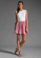 Camilla And Marc Clarification Tank Dress in Multi Pink w/ Ivory