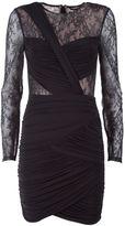BCBGMAXAZRIA Lace And Tulle Stretch-jersey Mini Dress