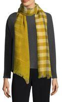 Eileen Fisher Handloom Fade Ikat Wool Scarf