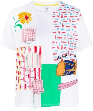 Mira Mikati patchwork print T-shirt