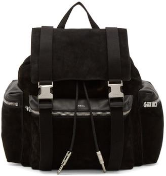 Amiri Black Suede Rucksack Backpack