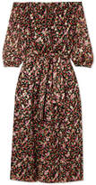 Vanessa Seward Flandre Floral-print Silk-blend Jacquard Midi Dress - Black