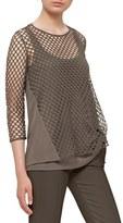 Akris Punto Women's Stretch Cotton Mesh Top