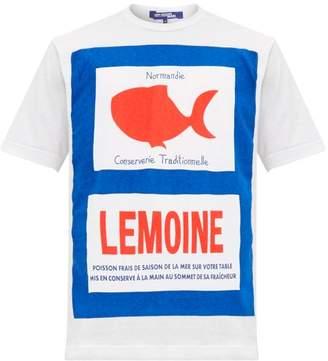 Junya Watanabe Fish-print Cotton T-shirt - Mens - White Multi