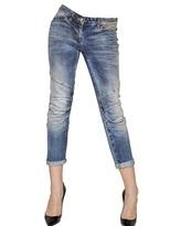 Balmain Skinny Stretch Cotton Cropped Jeans
