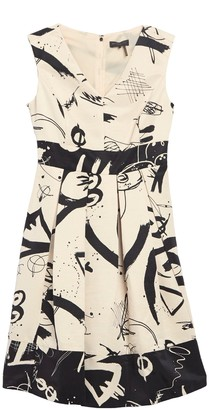 DKNY Fit & Flare Cap Sleeve Dress
