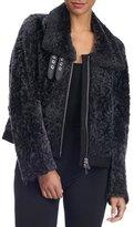 Simonetta Ravizza Shearling Fur Zip-Front Jacket
