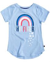 Tommy Hilfiger Rainbow-Print Cotton T-Shirt, Big Girls