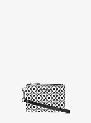 Michael Kors Checkerboard Logo Leather Coin Purse