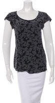 Steven Alan Abstract Floral Print Short Sleeve Top