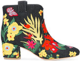 Laurence Dacade Belen denim Tropicale boots - women - Leather/Polyester - 38