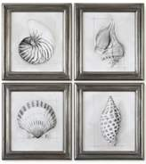 Uttermost Shell Schematic Aquatic 4-Pc. Print Set