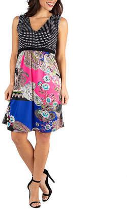 24/7 Comfort Apparel Empire Waist Sleeveless Party Dress