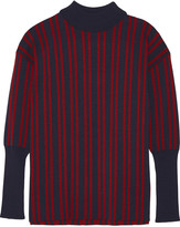 Tanya Taylor Timmy striped stretch-knit turtleneck sweater
