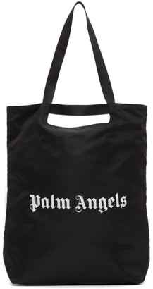 Palm Angels Black Logo Shopper Tote