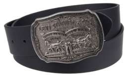 Levi's Leather Men's Belt with Plaque Buckle