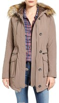 Rachel Roy Women's Faux Fur Trim Army Parka