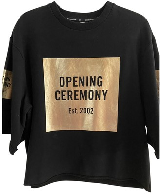 Opening Ceremony Black Cotton Tops