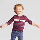 Genuine Kids from OshKosh Toddler Boys' Long Sleeve Henley Shirt - Genuine Kids from OshKosh® Heather Red