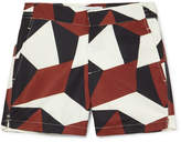 Frescobol Carioca Modernist Slim-Fit Mid-Length Printed Swim Shorts