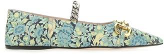 Gucci Liberty Floral Ballet Flats