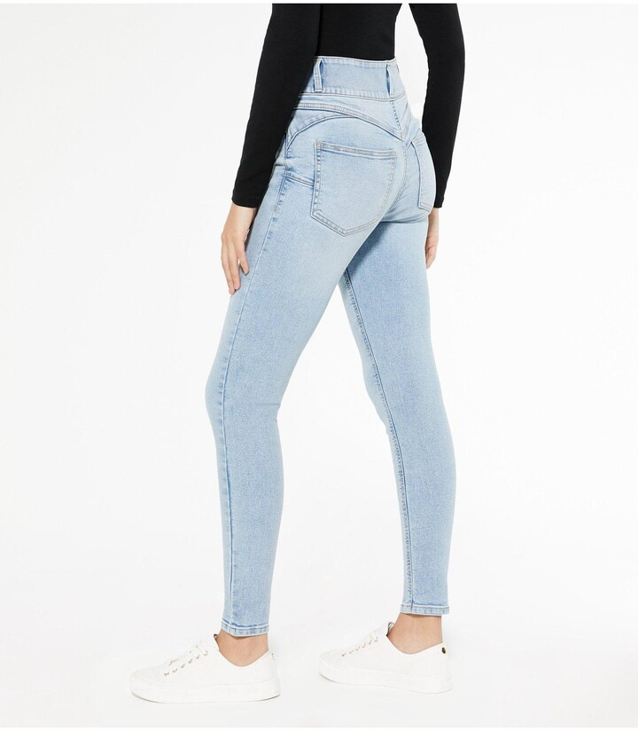 Thumbnail for your product : New Look Lift And Shape' High Waist Yazmin Skinny Jeans - Blue