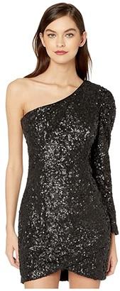 Bardot Abigail Sequin Dress (Black) Women's Dress