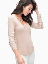 Splendid 1X1 Cross Front Long Sleeve Top