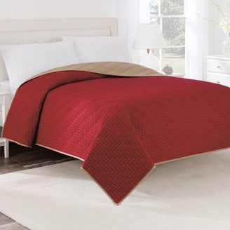 Martex Reversible King Ebony/Red Coverlet