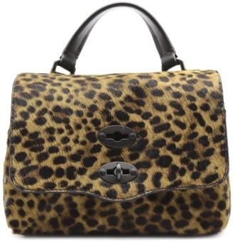 Zanellato Baby Postino Leopard Bag In Pony Fur