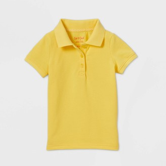 Cat & Jack Toddler Girls' Short Sleeve Stretch Pique Uniform Polo Shirt - Cat & JackTM