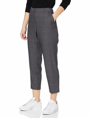 Dorothy Perkins Petite Women's Pink Grid Check Ankle Grazer Trousers