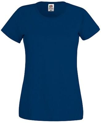 Fruit of the Loom Ladies Womens Original Ladyfit T-Shirt Tee Short Sleeve T Shirts
